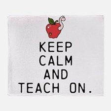 Teach on. Throw Blanket