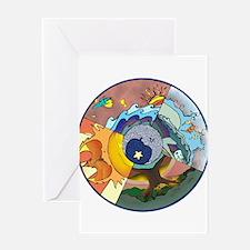 Healing Circle - white Greeting Cards