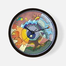 Healing Circle - white Wall Clock