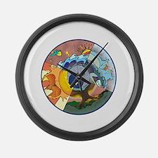 Healing Circle - white Large Wall Clock
