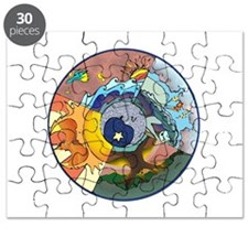 Healing Circle - white Puzzle