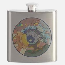 Healing Circle - white Flask