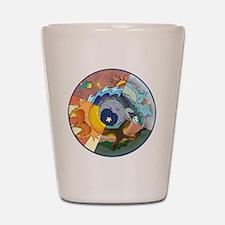Healing Circle - white Shot Glass