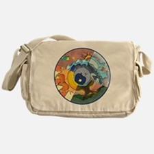 Healing Circle - white Messenger Bag