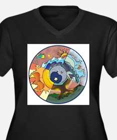 Healing Circle - white Plus Size T-Shirt