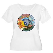 Healing Circle - white Plus Size T-Shirt
