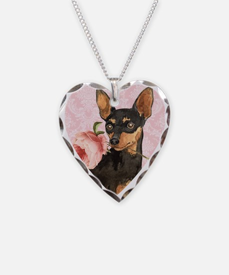 Min Pin Rose Necklace