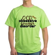 Funny Cougar Green T-Shirt