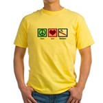 Peace Love Dentistry Yellow T-Shirt