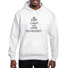 Keep calm and love Ice Hockey Hoodie