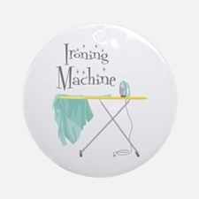 Ironing Machine Ornament (Round)