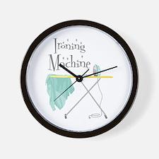 Ironing Machine Wall Clock