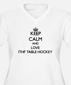 Keep calm and love Ithf Table Hockey Plus Size T-S