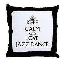Keep calm and love Jazz Dance Throw Pillow