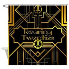 Roaring Twenties Gold And Black Shower Curtain