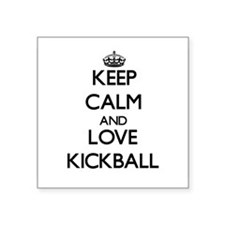 Keep calm and love Kickball Sticker