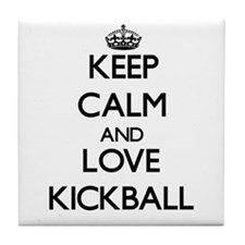 Keep calm and love Kickball Tile Coaster