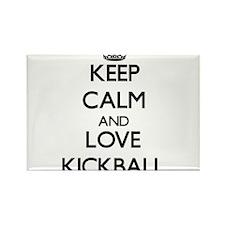 Keep calm and love Kickball Magnets