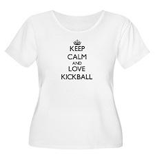 Keep calm and love Kickball Plus Size T-Shirt