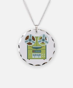 Reel to Reel Recorder Necklace