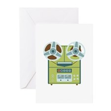 Reel to Reel Recorder Greeting Cards