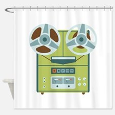 Reel to Reel Recorder Shower Curtain