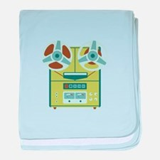 Reel to Reel Recorder baby blanket