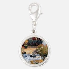 The Luncheon by Claude Monet Silver Round Charm