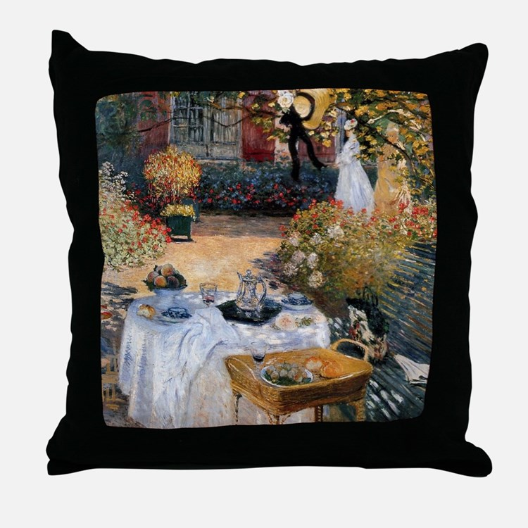 The Luncheon by Claude Monet Throw Pillow