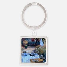The Luncheon by Monet Square Keychain