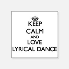 Keep calm and love Lyrical Dance Sticker