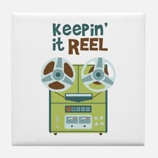 Keepin it Reel Tile Coaster