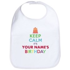Personalized Keep Calm Its My Birthday Bib
