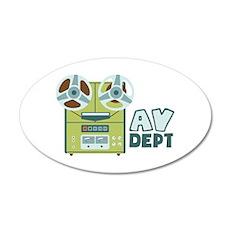 AV Dept Wall Decal