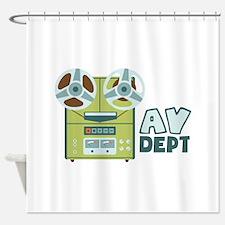 AV Dept Shower Curtain