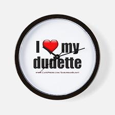 """Love My Dudette"" Wall Clock"