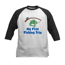 My First Fishing Trip Baseball Jersey