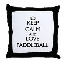 Keep calm and love Paddleball Throw Pillow