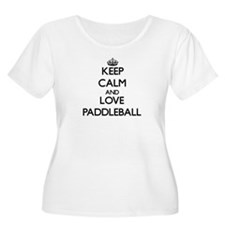 Keep calm and love Paddleball Plus Size T-Shirt