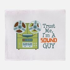 Trust Me Im a Sound Guy Throw Blanket