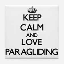 Keep calm and love Paragliding Tile Coaster