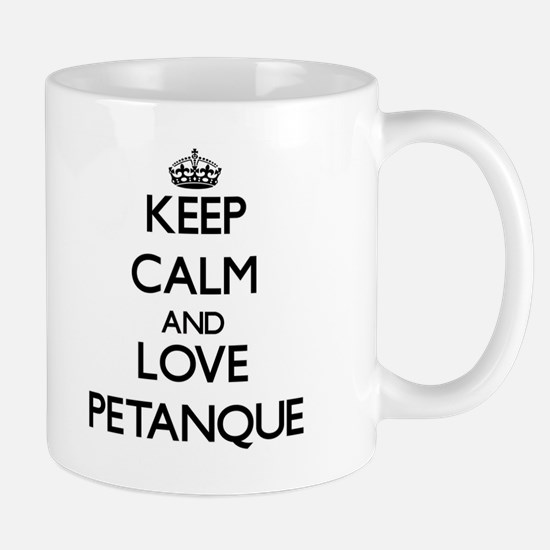 Keep calm and love Petanque Mugs