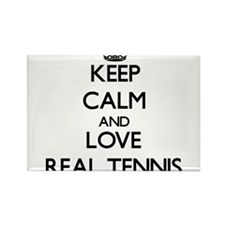 Keep calm and love Real Tennis Magnets