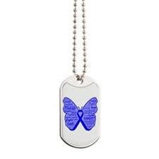 Dysautonomia Butterfly Dog Tags