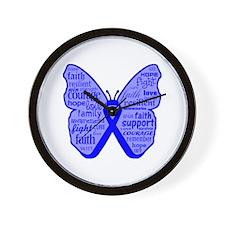 Dysautonomia Butterfly Wall Clock
