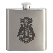 Thors Hammer with Ravens Flask
