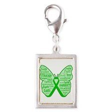 Cerebral Palsy Awareness Silver Portrait Charm