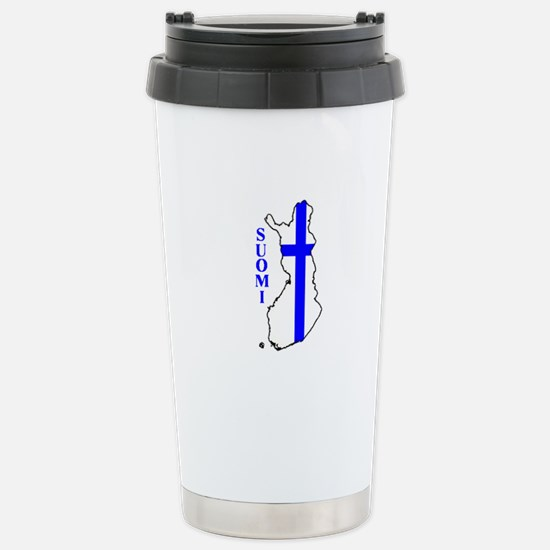 FinnFlagMap Travel Mug