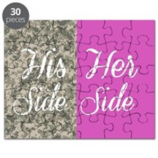 Camo His Side/ pink Her Side Puzzle