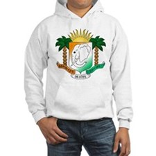 Ivory Coast or Cote d'Ivoire Coat of Arms Hoodie